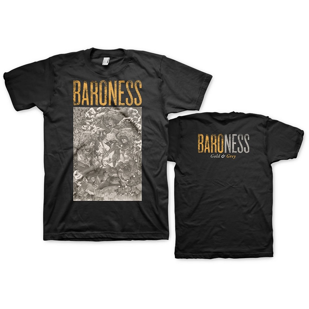 Baroness Gold & Grey T-Shirt