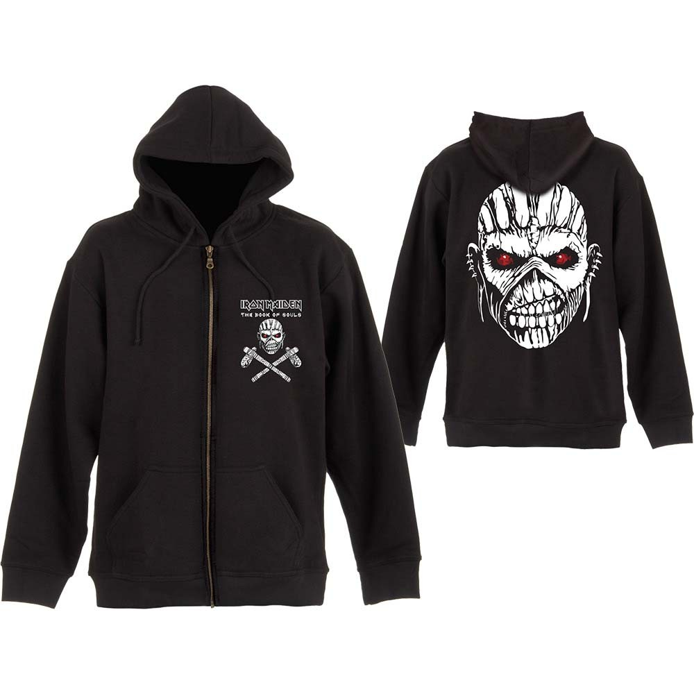 Iron Maiden Eddie Axe White Zipped Hoodie