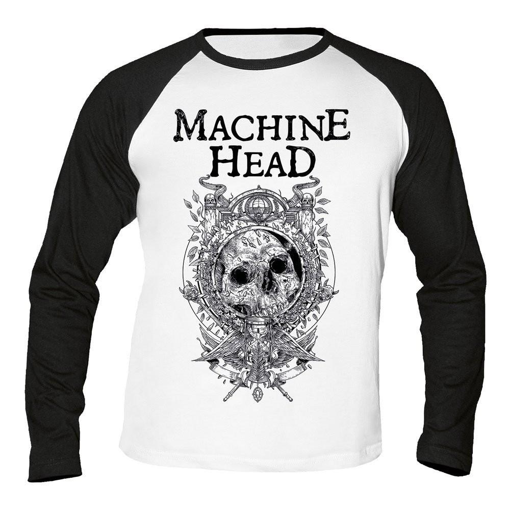 Machine Head Clock Baseball Longsleeve T-Shirt