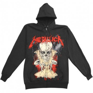 Metallica Lightning Boris Zipped Hooded Sweatshirt
