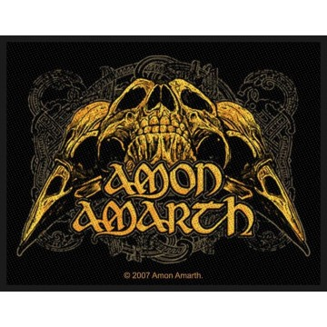 Amon Amarth Raven Skull Patch