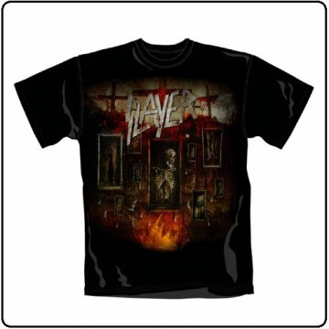Slayer World Painted Blood Blood Skeleton T-Shirt