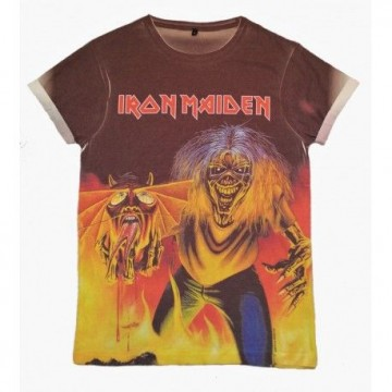 Iron Maiden Number Of The Beast Allover Print T-Shirt