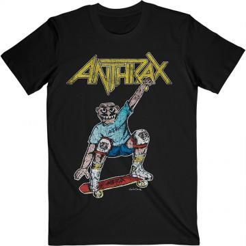 Anthrax Spreading Skater Notman Vintage Re-Print T-Shirt