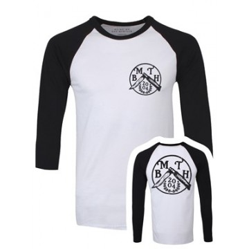 Bring Me The Horizon Flick Knife With Back Print Raglan Baseball Longsleeve