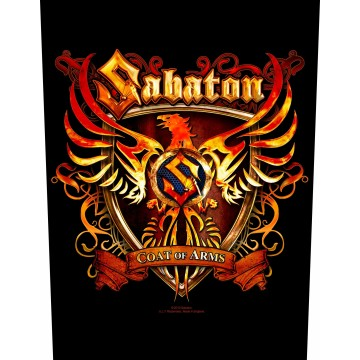 Sabaton Coat Of Arms Backpatch