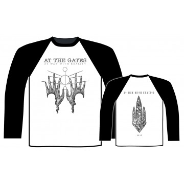 At The Gates At War With Reality Baseball Longsleeve Shirt