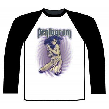 Pentagram Virgin Witch Baseball Longsleeve Shirt