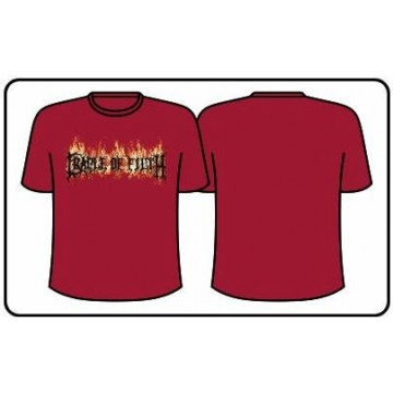 Cradle Of Filth Red Flames Logo T-Shirt