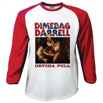 Dimebag Darrell Pantera Getcha Pull Raglan Baseball Longsleeve