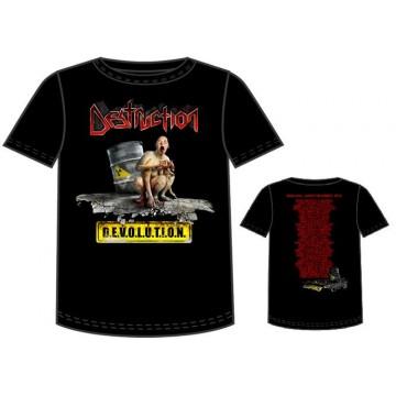 Destruction Devolution Tour Dates T-Shirt