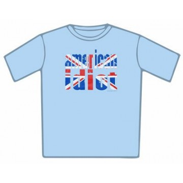 Green Day Union Jack Idiot Blue T-Shirt