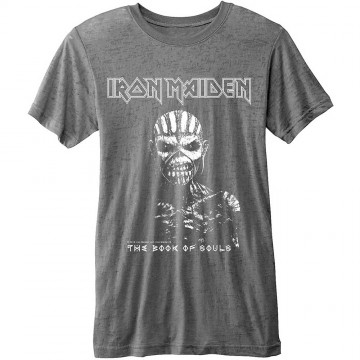 Iron Maiden Book Of Souls Burnout Grey T-Shirt