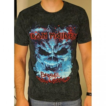 Iron Maiden Brave New World Puff Print T-Shirt