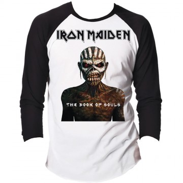 Iron Maiden Book Of Souls Raglan Baseball Longsleeve