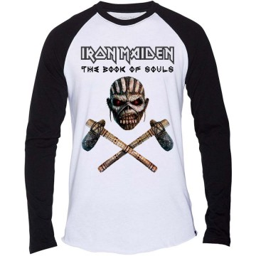 Iron Maiden Axe Colour Men Raglan Baseball Longsleeve
