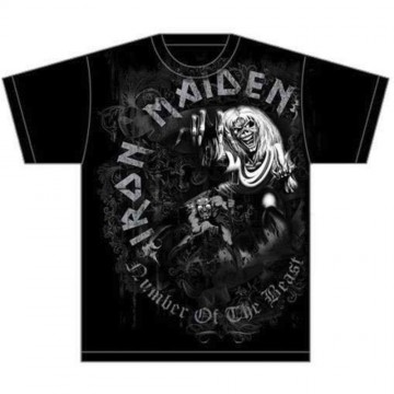 Iron Maiden Number Of The Beast Grey Tone T-Shirt