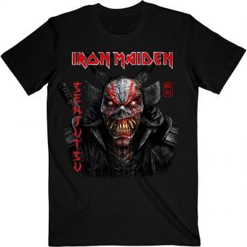 Iron Maiden Senjutsu Black Cover Vertical Logo T-Shirt