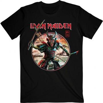 Iron Maiden Senjutsu Eddie Warrior Circle T-Shirt