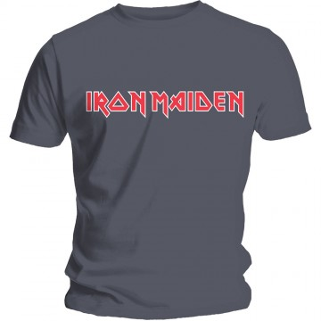 Iron Maiden Classic Logo Charcoal T-Shirt