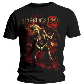 Iron Maiden Benjamin Breeg Red Graphic T-Shirt