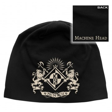 Machine Head Crest Discharge Beanie Hat