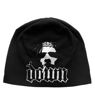 Down Logo/Face Discharge Beanie Hat