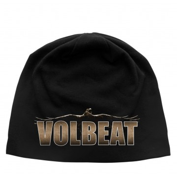 Volbeat Raven Logo Discharge Beanie Hat