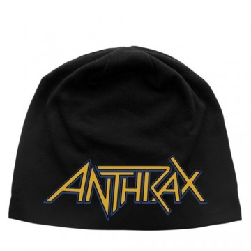 Anthrax Logo Discharge Beanie Hat