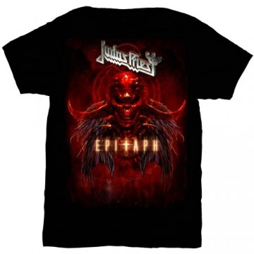 Judas Priest Epitaph Red Horns T-Shirt