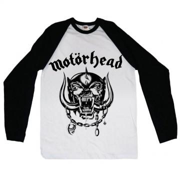 Motorhead England Raglan Long Sleeve T-Shirt
