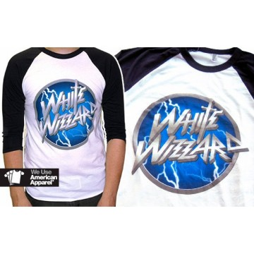 White Wizzard Logo Baseball Shirt