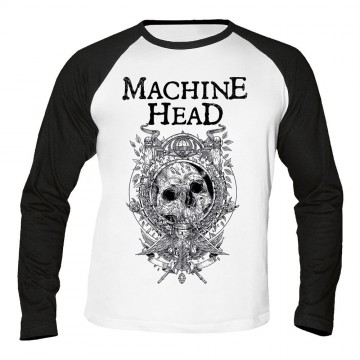 Machine Head Clock Baseball Longsleeve T-Shirt
