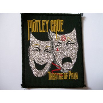 Motley Crue Theatre Of Pain Glitter Patch