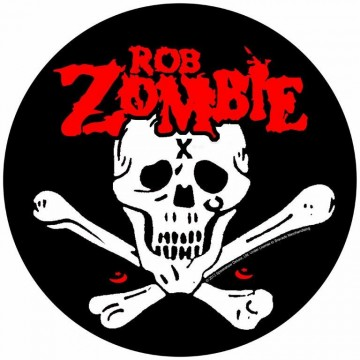 Rob Zombie Skull And Crossbones Circular Backpatch