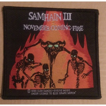 Samhain November Coming Fire Patch