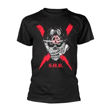 S.O.D. Stormtroopers Of Death Scrawled Lightning T-Shirt