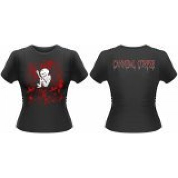 Cannibal Corpse Foetus Blood Splatter Girls T-Shirt.