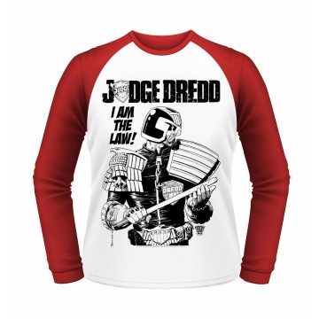 2000Ad Judge Dredd I Am The Law 3 Long Sleeved Baseball Shirt
