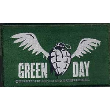 Green Day Winged Grenade Patch