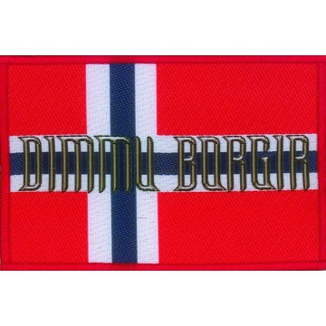 Dimmu Borgir Norwegian Flag Patch