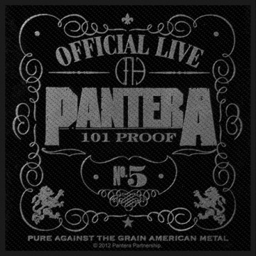 Pantera Official Live 101% Proof Patch