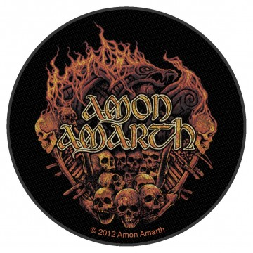 Amon Amarth Skull And Flames Circular Patch