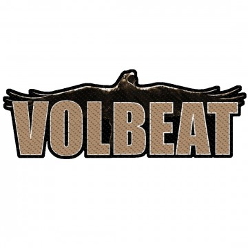 Volbeat Raven Logo Cut Out Patch