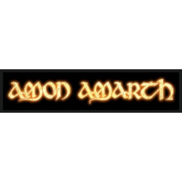Amon Amarth Gold Logo Superstrip Patch