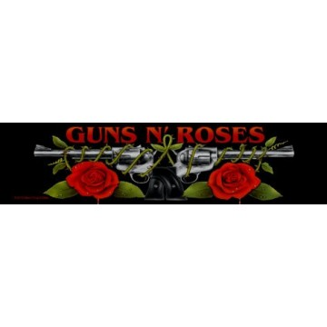 Guns N Roses (GnR) Logo/Roses Superstrip Patch