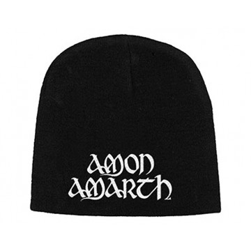 Amon Amarth White Logo Beanie Hat