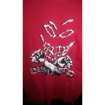 Disturbed Double Cross Red T-Shirt