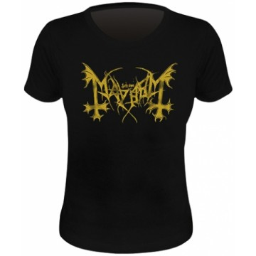 Mayhem Gold Logo Skinny T-Shirt