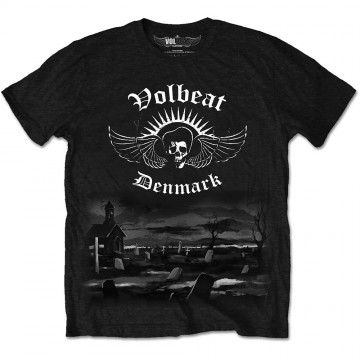 Volbeat Graveyard Mens Black T-Shirt